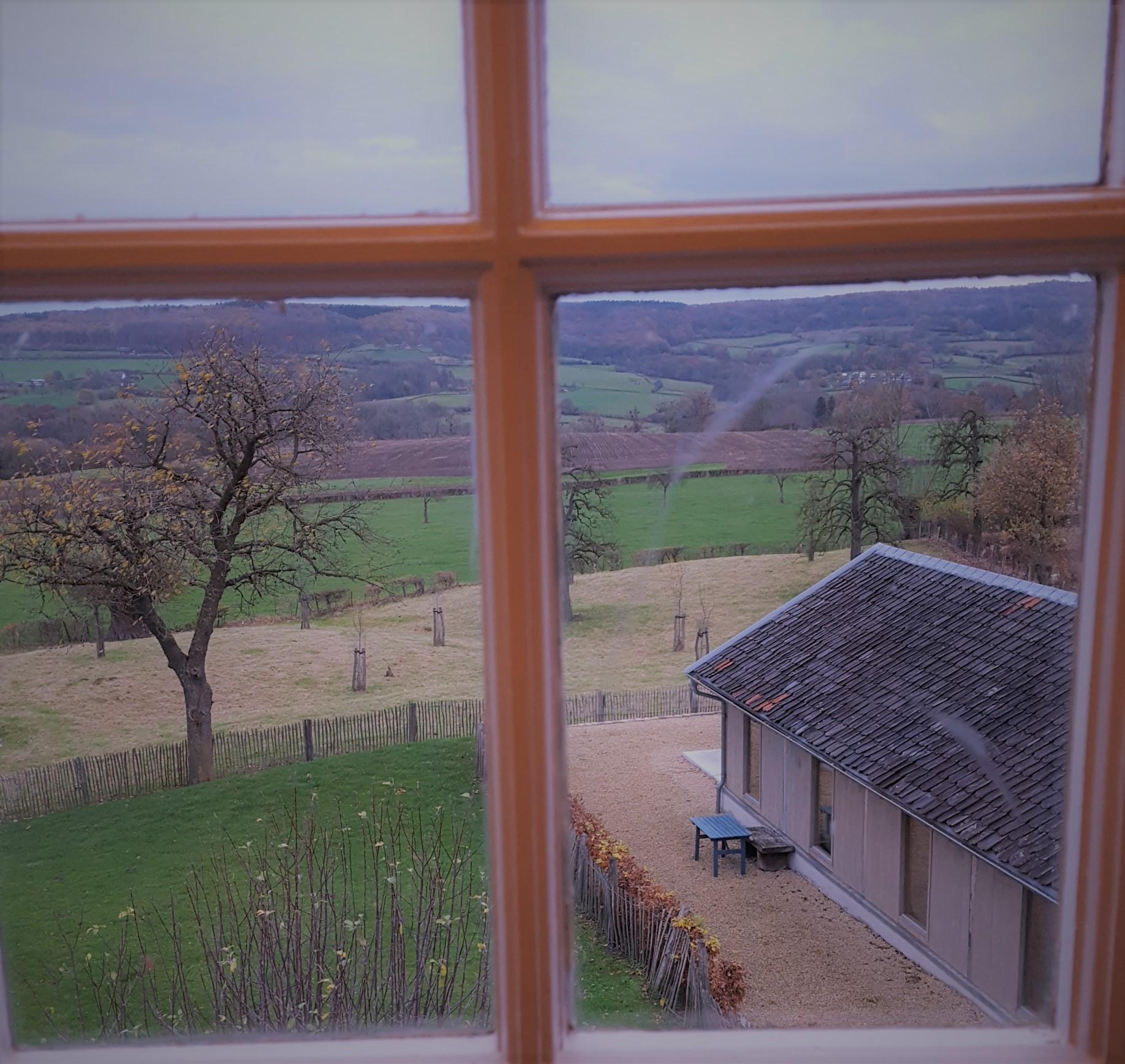 Uitzicht vanuit een raamje